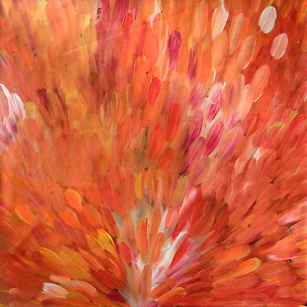 Tema-Galerie-Corail-toile-aborigène-gloria-petyarre